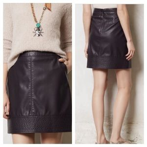 Anthropologie•Vanessa Virginia Faux Leather Skirt